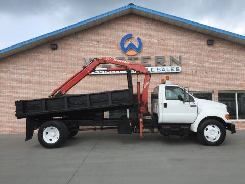 2002 Ford Knuckle Crane Dump for sale at Western Specialty Vehicle Sales in Braidwood IL