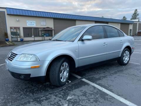 2002 Volkswagen Passat for sale at Exelon Auto Sales in Auburn WA