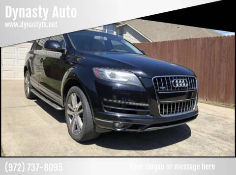 2011 Audi Q7 for sale at Dynasty Auto in Dallas TX