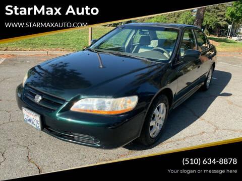 2001 Honda Accord for sale at StarMax Auto in Fremont CA