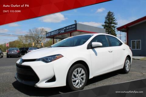 2018 Toyota Corolla for sale at Deals N Wheels 306 in Burlington NJ
