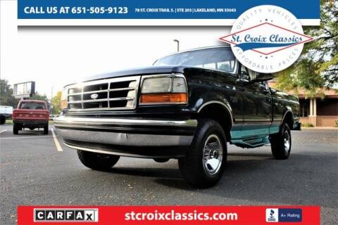 1995 Ford F-150 for sale at St. Croix Classics in Lakeland MN