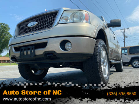 2006 Ford F-150 for sale at Auto Store of NC in Walkertown NC
