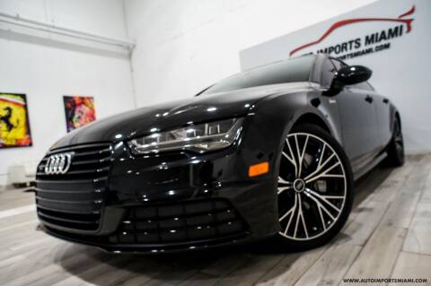 2017 Audi A7 for sale at AUTO IMPORTS MIAMI in Fort Lauderdale FL