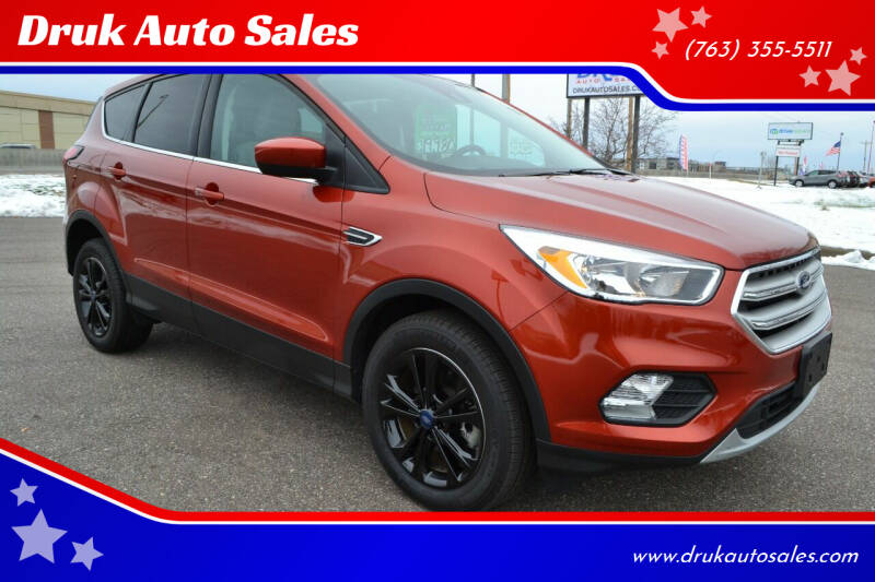 2019 Ford Escape for sale at Druk Auto Sales in Ramsey MN