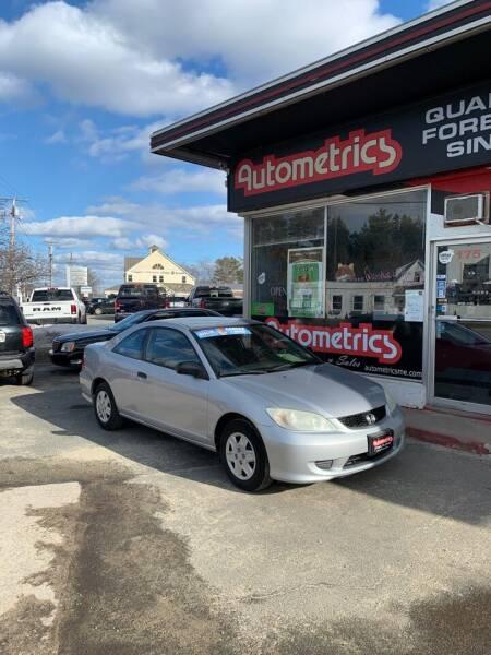 2005 Honda Civic for sale at AUTOMETRICS in Brunswick ME