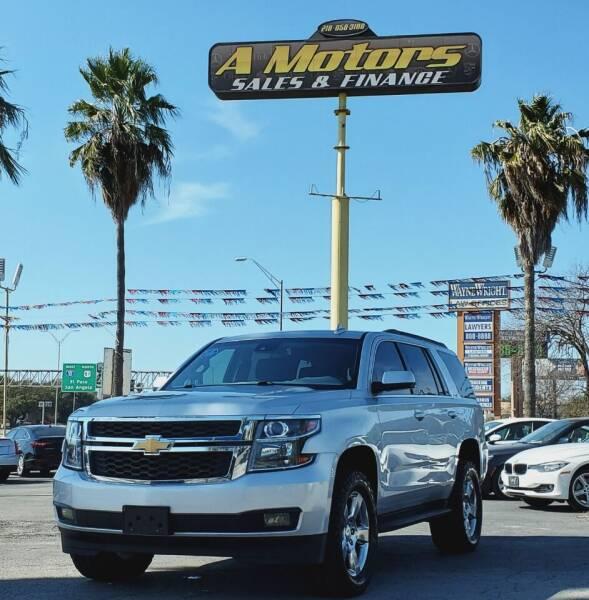 2017 Chevrolet Tahoe for sale at A MOTORS SALES AND FINANCE - 10110 West Loop 1604 N in San Antonio TX