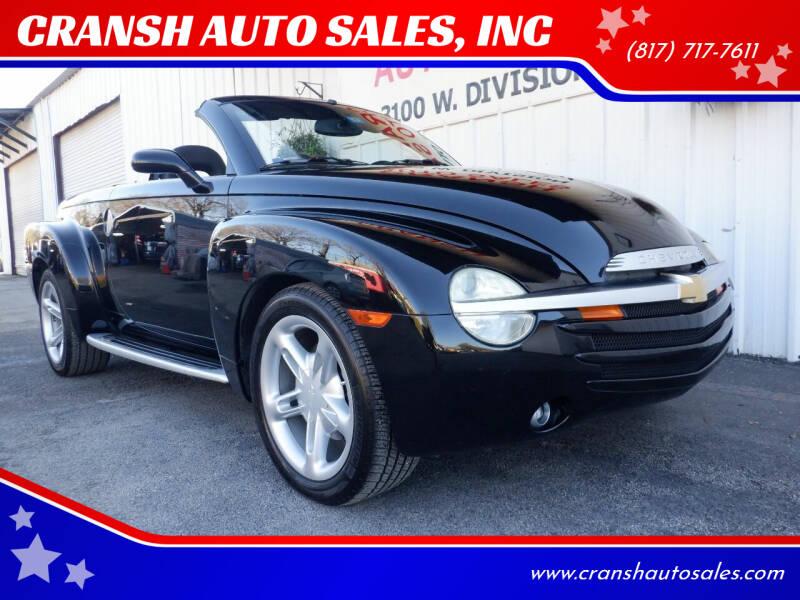 2004 Chevrolet SSR for sale at CRANSH AUTO SALES, INC in Arlington TX