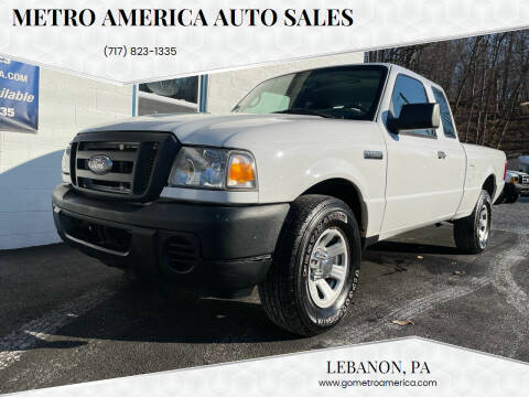 2008 Ford Ranger for sale at METRO AMERICA AUTO SALES of Lebanon in Lebanon PA