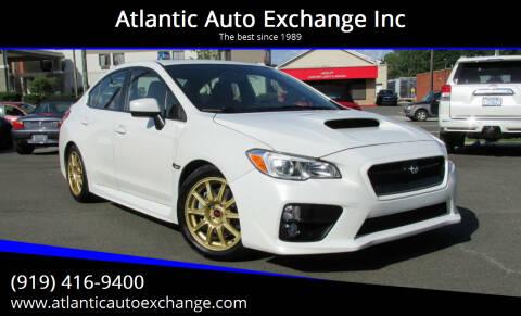 2015 Subaru WRX for sale at Atlantic Auto Exchange Inc in Durham NC