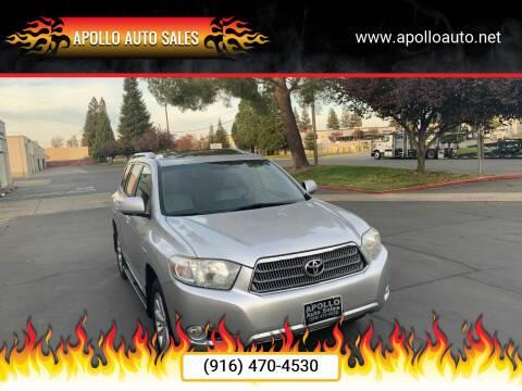 2008 Toyota Highlander Hybrid for sale at APOLLO AUTO SALES in Sacramento CA