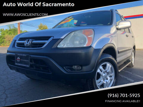 2003 Honda CR-V for sale at Auto World of Sacramento Stockton Blvd in Sacramento CA