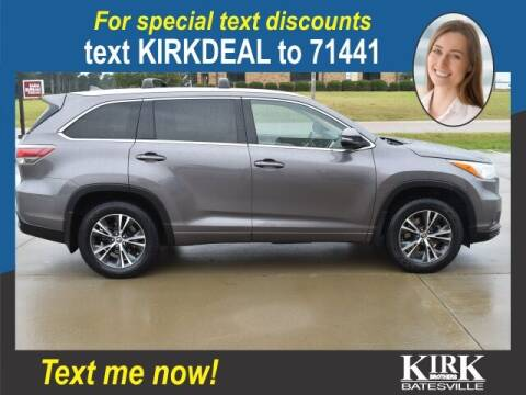 2016 Toyota Highlander for sale at Kirk Brothers Batesville in Batesville MS