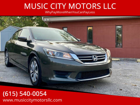 2014 Honda Accord for sale at MUSIC CITY MOTORS LLC in Nashville TN
