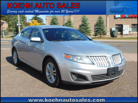 2010 Lincoln MKS for sale at Koehn Auto Sales in Lindstrom MN