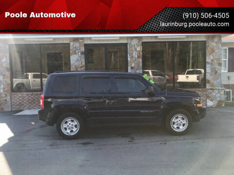2015 Jeep Patriot for sale at Poole Automotive in Laurinburg NC