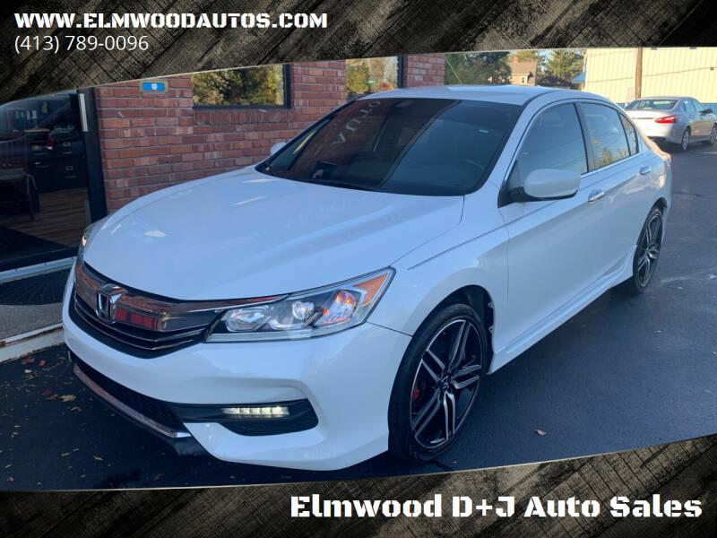 2016 Honda Accord for sale at Elmwood D+J Auto Sales in Agawam MA