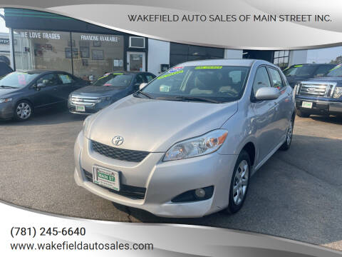 2012 Toyota Matrix for sale at Wakefield Auto Sales of Main Street Inc. in Wakefield MA