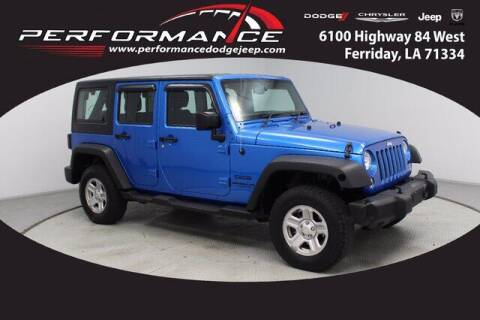 2016 Jeep Wrangler Unlimited for sale at Auto Group South - Performance Dodge Chrysler Jeep in Ferriday LA