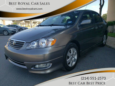 2007 Toyota Corolla for sale at Best Royal Car Sales in Dallas TX