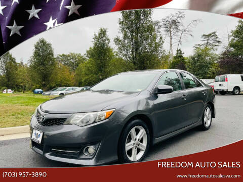 2012 Toyota Camry for sale at Freedom Auto Sales in Chantilly VA