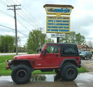 1998 Jeep Wrangler for sale at JEREMYS AUTOMOTIVE in Casco MI