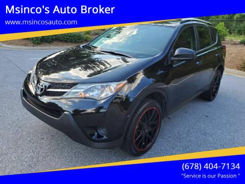 2014 Toyota RAV4 for sale at Msinco's Auto Broker in Snellville GA