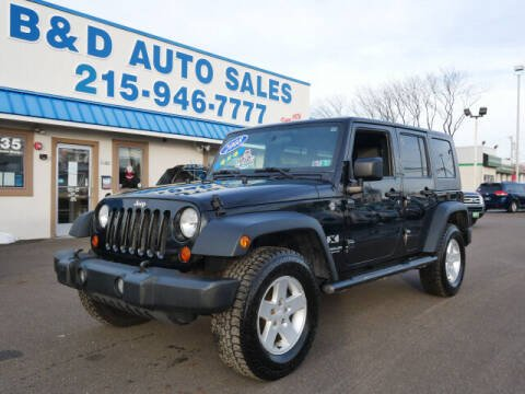 2008 Jeep Wrangler Unlimited for sale at B & D Auto Sales Inc. in Fairless Hills PA