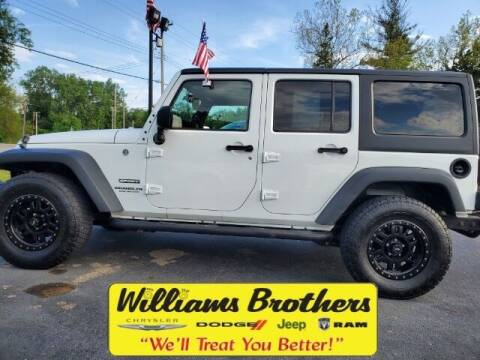 2017 Jeep Wrangler Unlimited for sale at Williams Brothers - Pre-Owned Monroe in Monroe MI