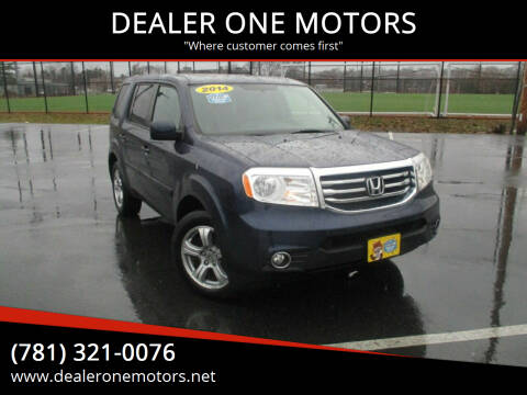 2014 Honda Pilot for sale at DEALER ONE MOTORS in Malden MA