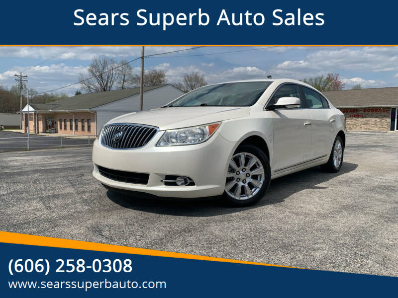 2013 Buick LaCrosse for sale at Sears Superb Auto Sales in Corbin KY