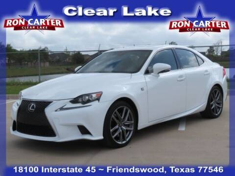 2016 Lexus IS 350 for sale at Ron Carter  Clear Lake Used Cars in Houston TX