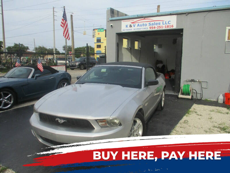 2012 Ford Mustang for sale at K & V AUTO SALES LLC in Hollywood FL