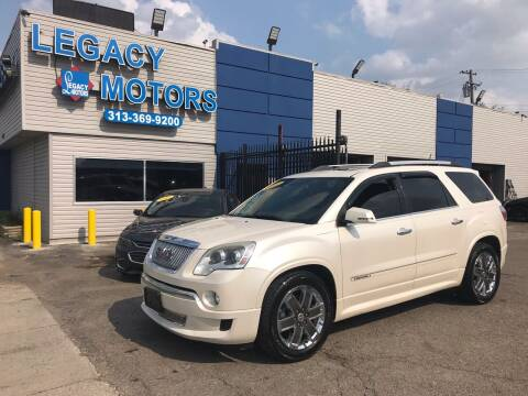 2011 GMC Acadia for sale at Legacy Motors in Detroit MI