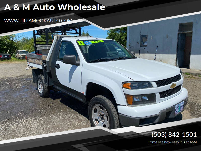 2011 Chevrolet Colorado for sale at A & M Auto Wholesale in Tillamook OR