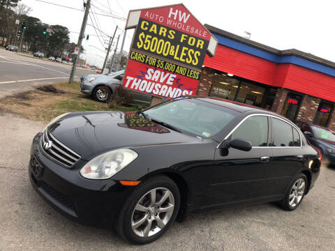 2006 Infiniti G35 for sale at HW Auto Wholesale in Norfolk VA
