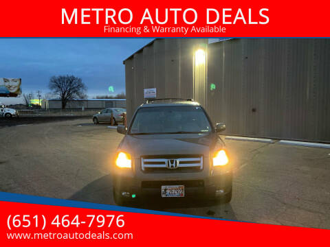 2007 Honda Pilot for sale at METRO AUTO DEALS in Forest Lake MN