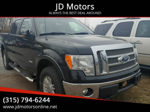 2012 Ford F-150 for sale at JD Motors in Fulton NY