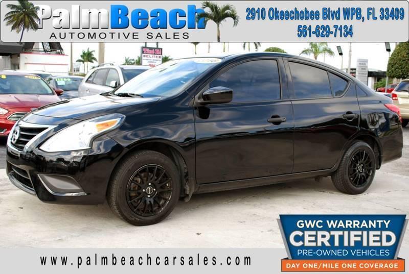 2016 Nissan Versa for sale at Palm Beach Automotive Sales in West Palm Beach FL
