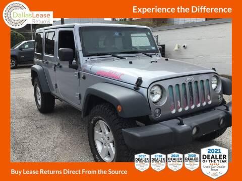 2017 Jeep Wrangler Unlimited for sale at Dallas Auto Finance in Dallas TX