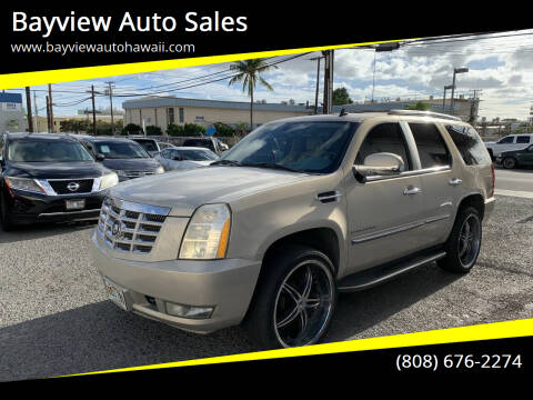 2007 Cadillac Escalade for sale at Bayview Auto Sales in Waipahu HI