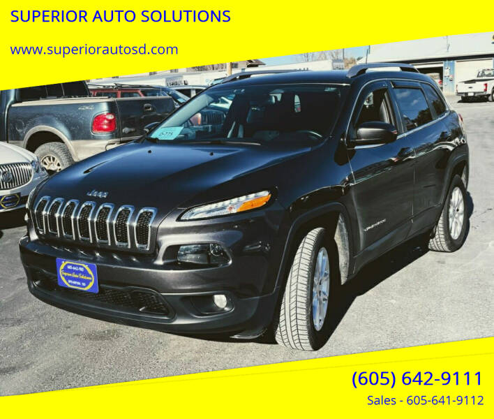 2016 Jeep Cherokee for sale at SUPERIOR AUTO SOLUTIONS in Spearfish SD