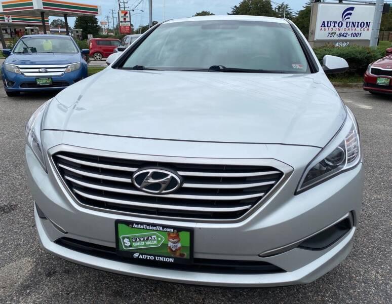 2016 Hyundai Sonata for sale at Auto Union LLC in Virginia Beach VA