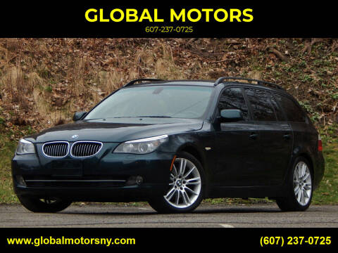 2008 BMW 5 Series for sale at GLOBAL MOTORS in Binghamton NY