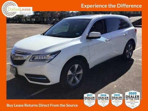 2016 Acura MDX for sale at Dallas Auto Finance in Dallas TX