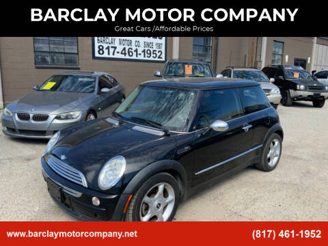 2004 MINI Cooper for sale at BARCLAY MOTOR COMPANY in Arlington TX