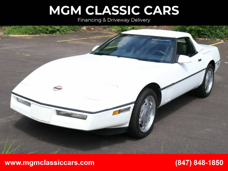 1989 Chevrolet Corvette for sale at MGM CLASSIC CARS in Addison IL