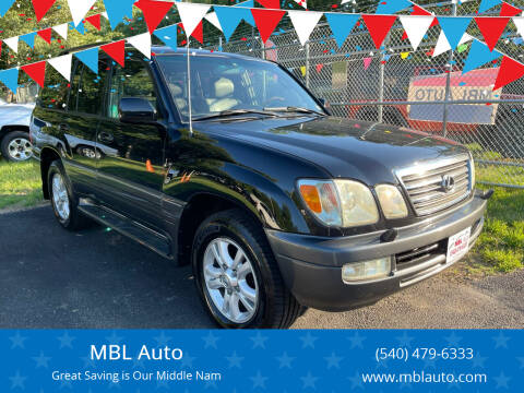 2005 Lexus LX 470 for sale at MBL Auto Woodford in Woodford VA