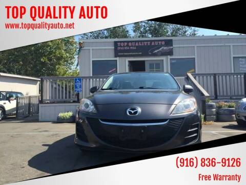 2010 Mazda MAZDA3 for sale at TOP QUALITY AUTO in Rancho Cordova CA