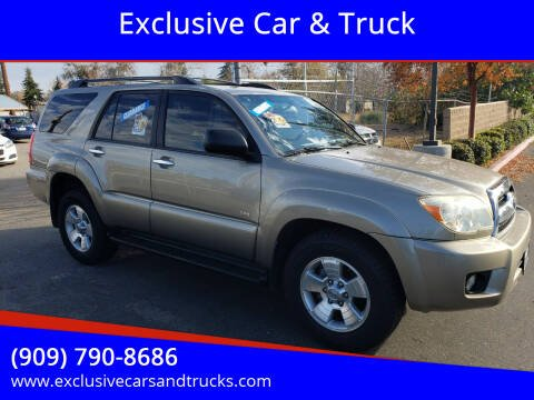 2008 Toyota 4Runner for sale at Exclusive Car & Truck in Yucaipa CA